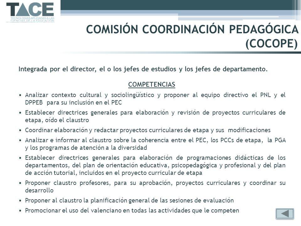 COMISIÓN COORDINACIÓN PEDAGÓGICA (COCOPE)