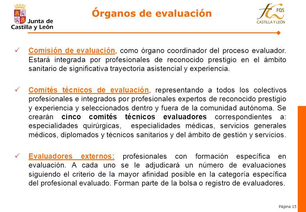 Órganos de evaluación