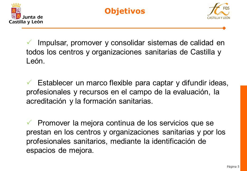 Objetivos Impulsar, promover y consolidar sistemas de calidad en todos los centros y organizaciones sanitarias de Castilla y León.