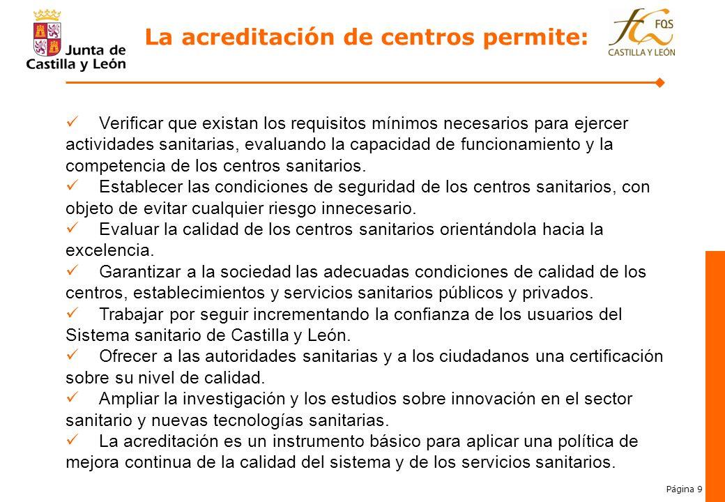 La acreditación de centros permite:
