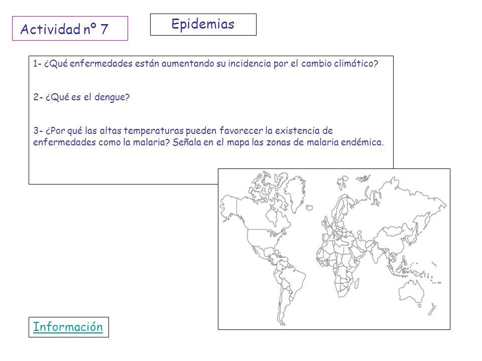 Epidemias Actividad nº 7 Información