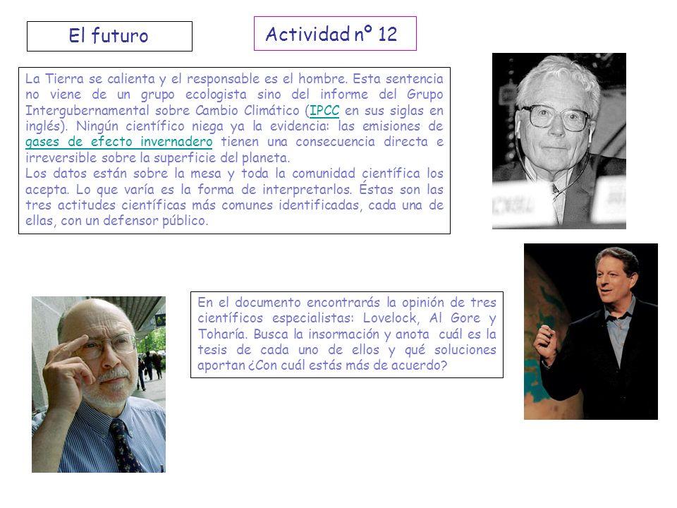 Actividad nº 12 El futuro.