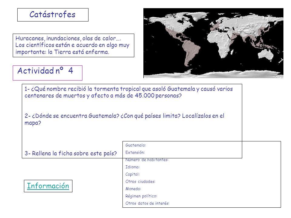 Catástrofes Actividad nº 4 Información