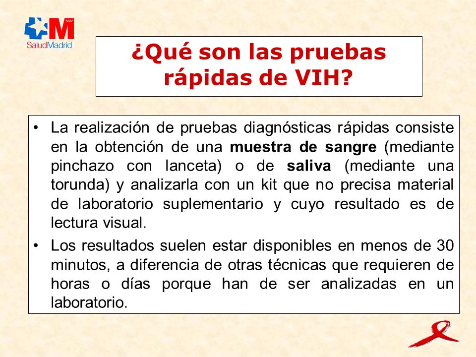 ¿Qué son las pruebas rápidas de VIH