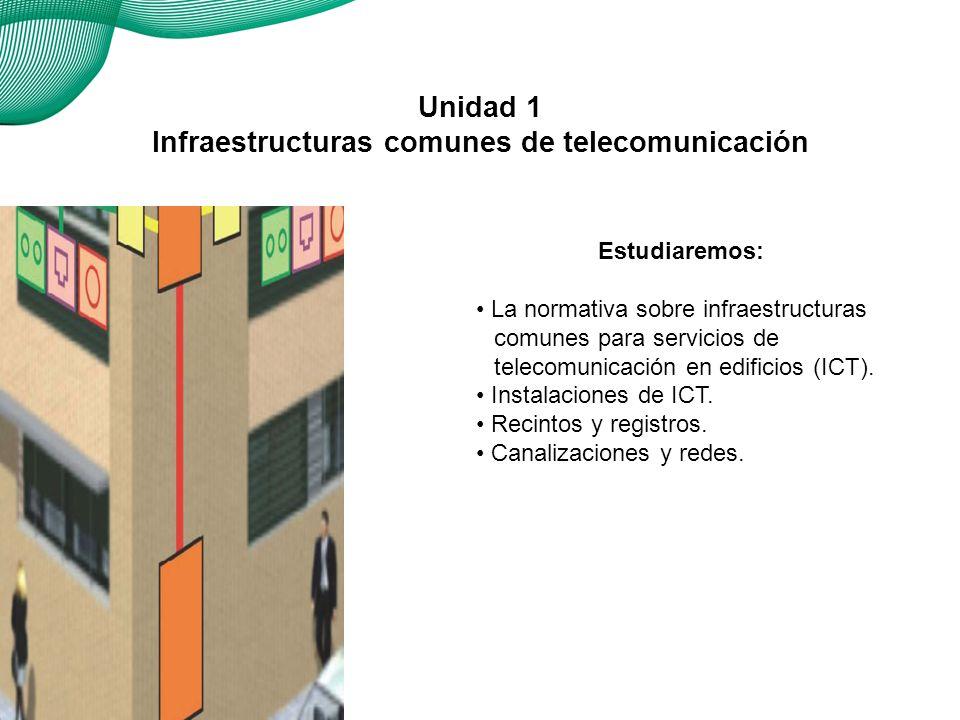 01 ¿Qué es una ICT 1.1 Normativa ICT 2. Recintos y canalizaciones