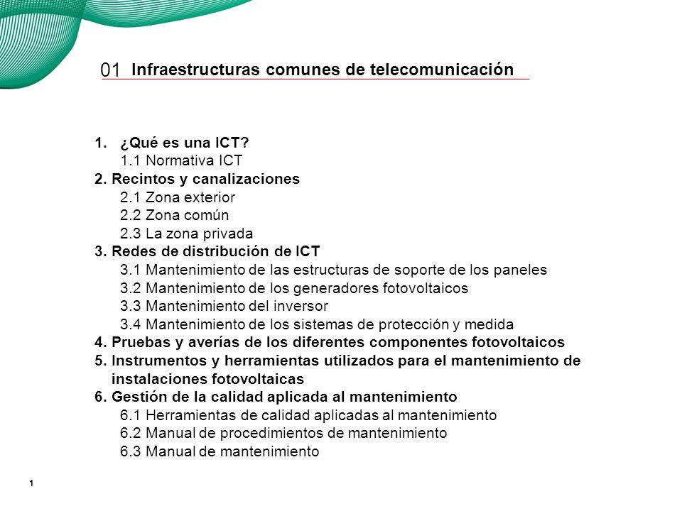 01 1. ¿Qué es una ICT Transporte de servicios de comunicación