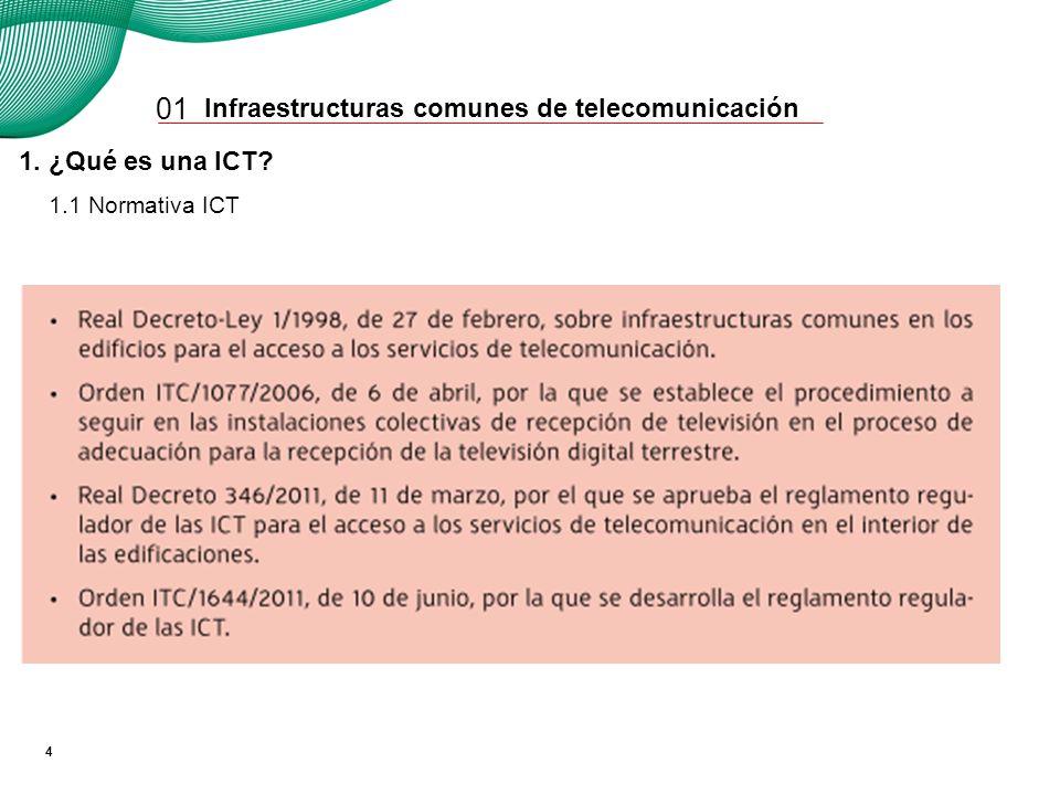 Desde 1998 los edificios nuevos o rehabilitados deben tener una ICT.