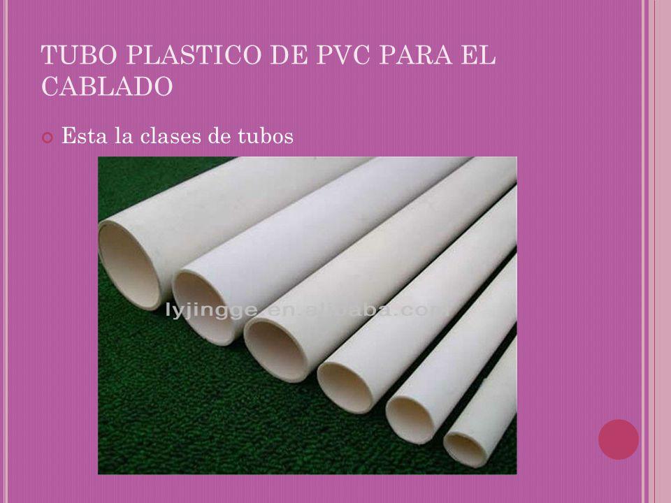 TUBO PLASTICO DE PVC PARA EL CABLADO