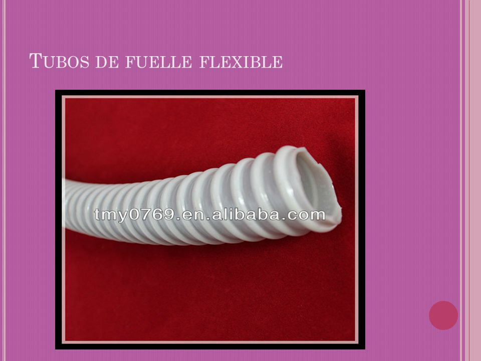 Tubos de fuelle flexible