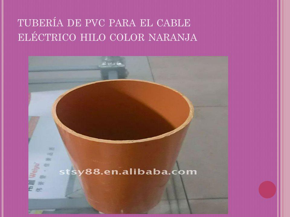 tubería de pvc para el cable eléctrico hilo color naranja