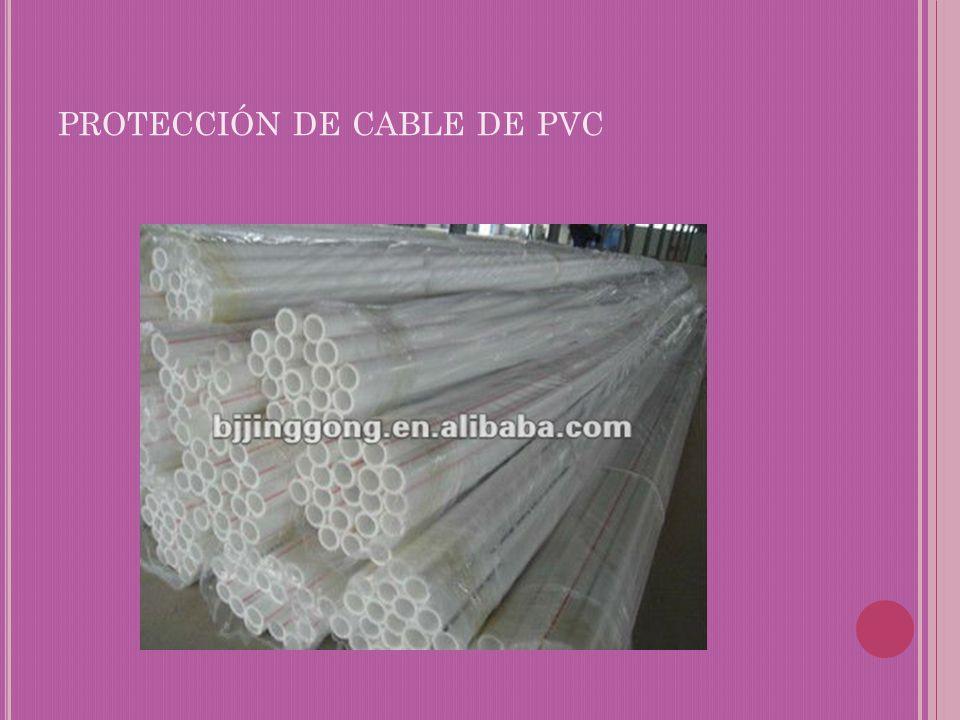 protección de cable de pvc