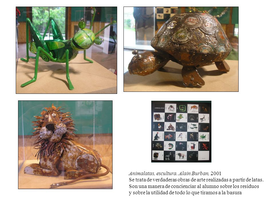 Animalatas, escultura. Alain Burban, 2001