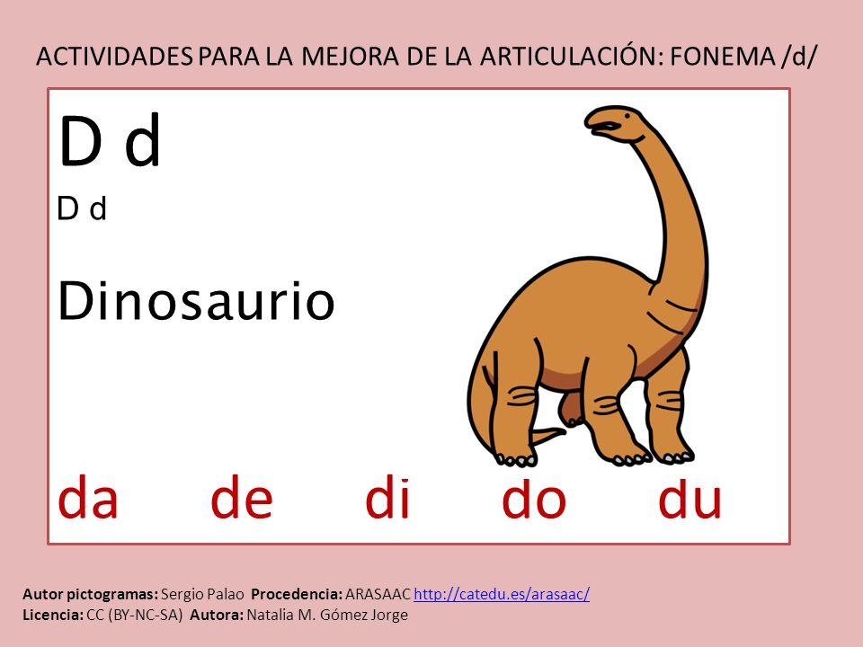 D d da de di do du Dinosaurio