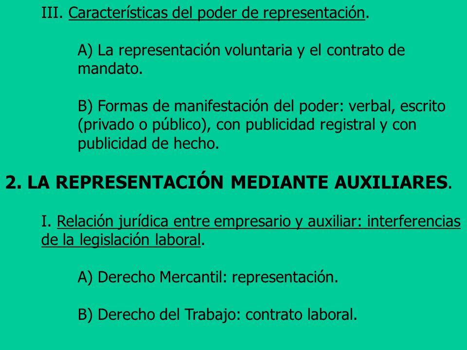 2. LA REPRESENTACIÓN MEDIANTE AUXILIARES.