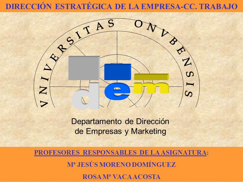 . m d e DIRECCIÓN ESTRATÉGICA DE LA EMPRESA-CC. TRABAJO