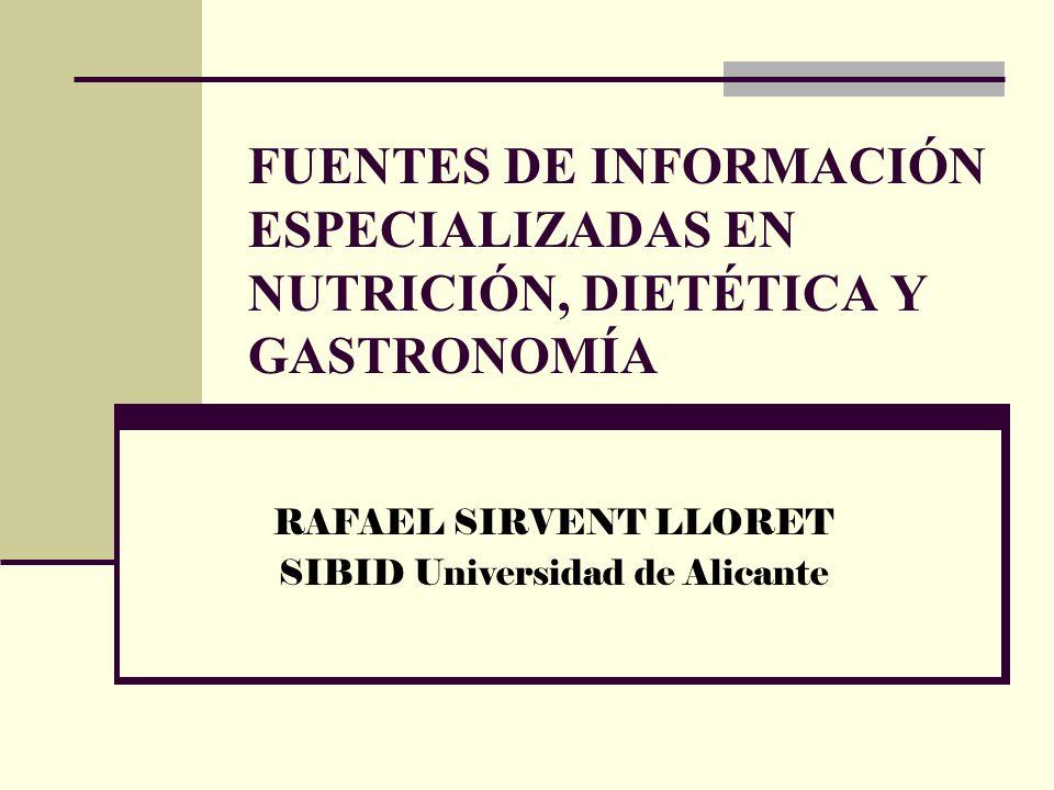 RAFAEL SIRVENT LLORET SIBID Universidad de Alicante