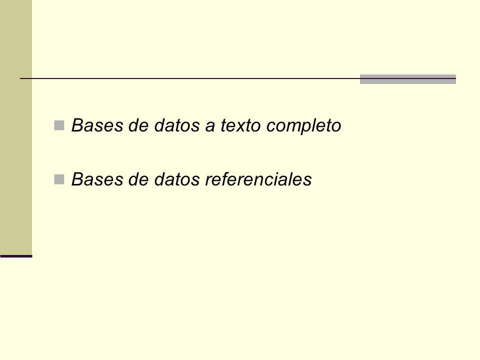 Bases de datos a texto completo