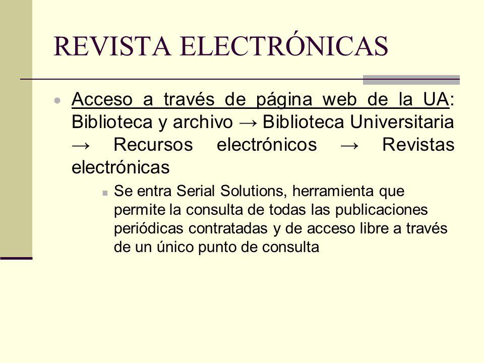 REVISTA ELECTRÓNICAS