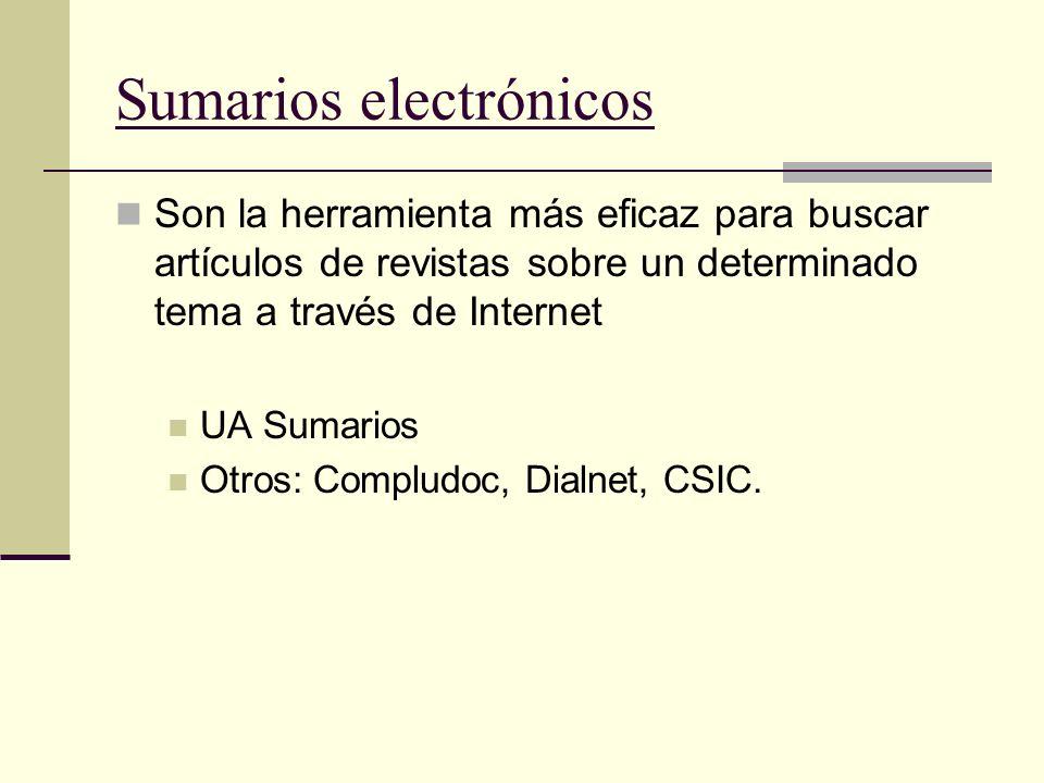 Sumarios electrónicos