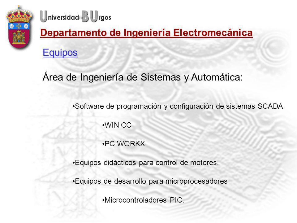 Área de Ingeniería de Sistemas y Automática: