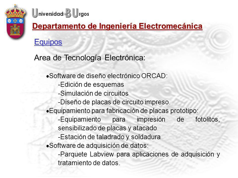 Area de Tecnología Electrónica: