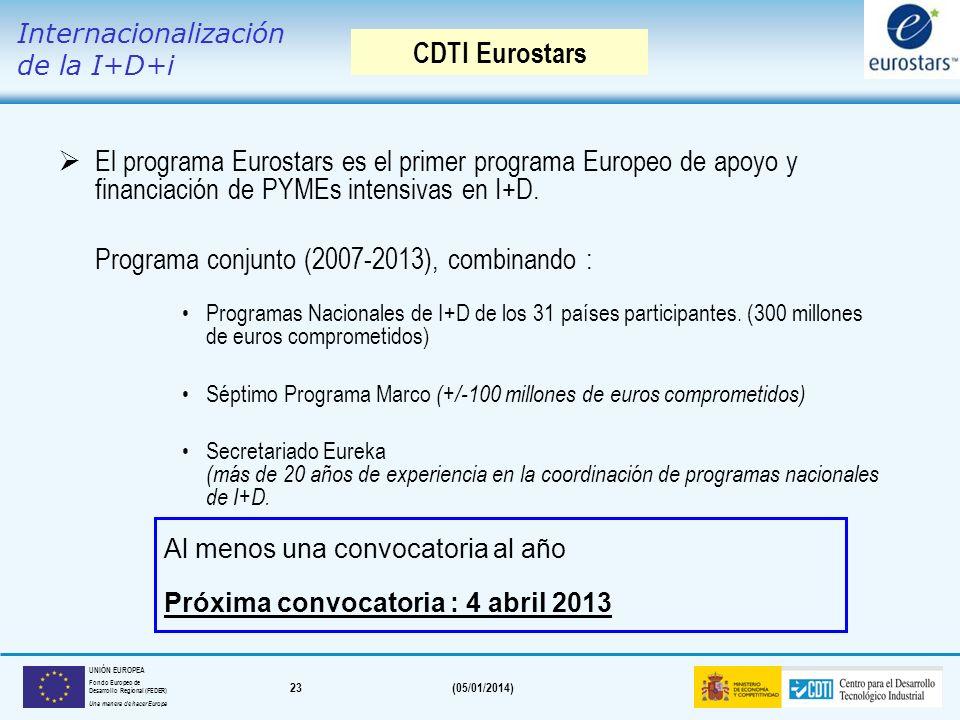 Programa conjunto (2007-2013), combinando :