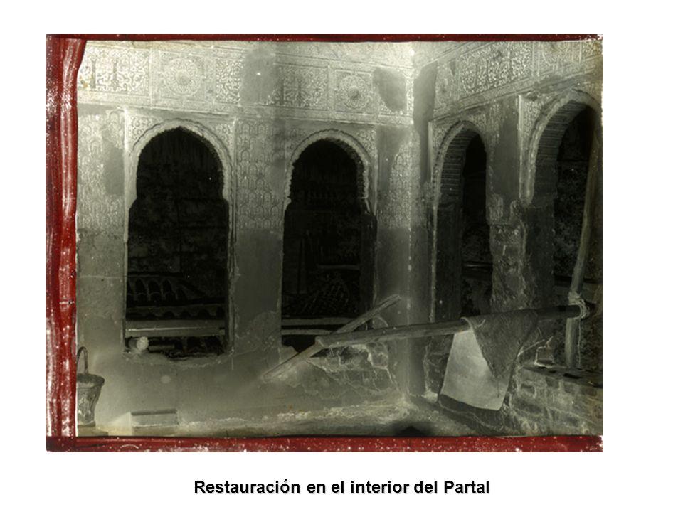Restauración en el interior del Partal