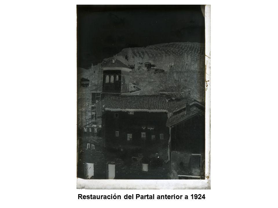 Restauración del Partal anterior a 1924