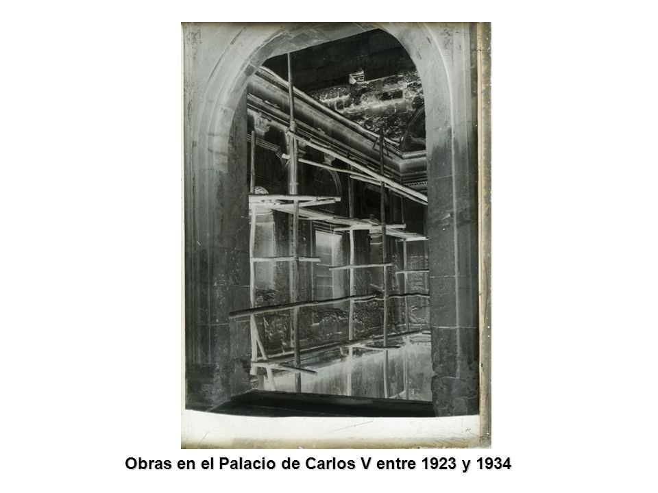 Obras en el Palacio de Carlos V entre 1923 y 1934