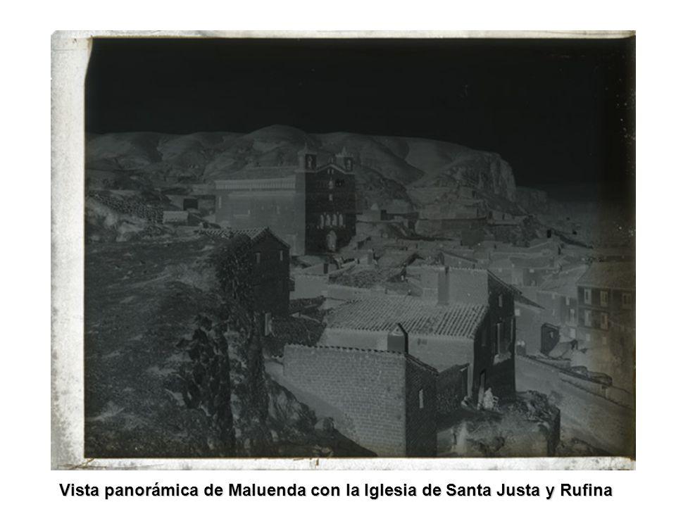 Vista panorámica de Maluenda con la Iglesia de Santa Justa y Rufina