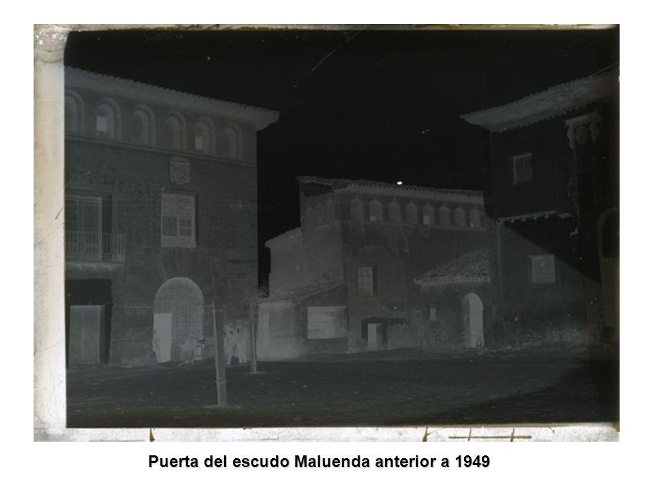 Puerta del escudo Maluenda anterior a 1949