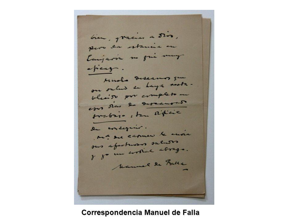 Correspondencia Manuel de Falla