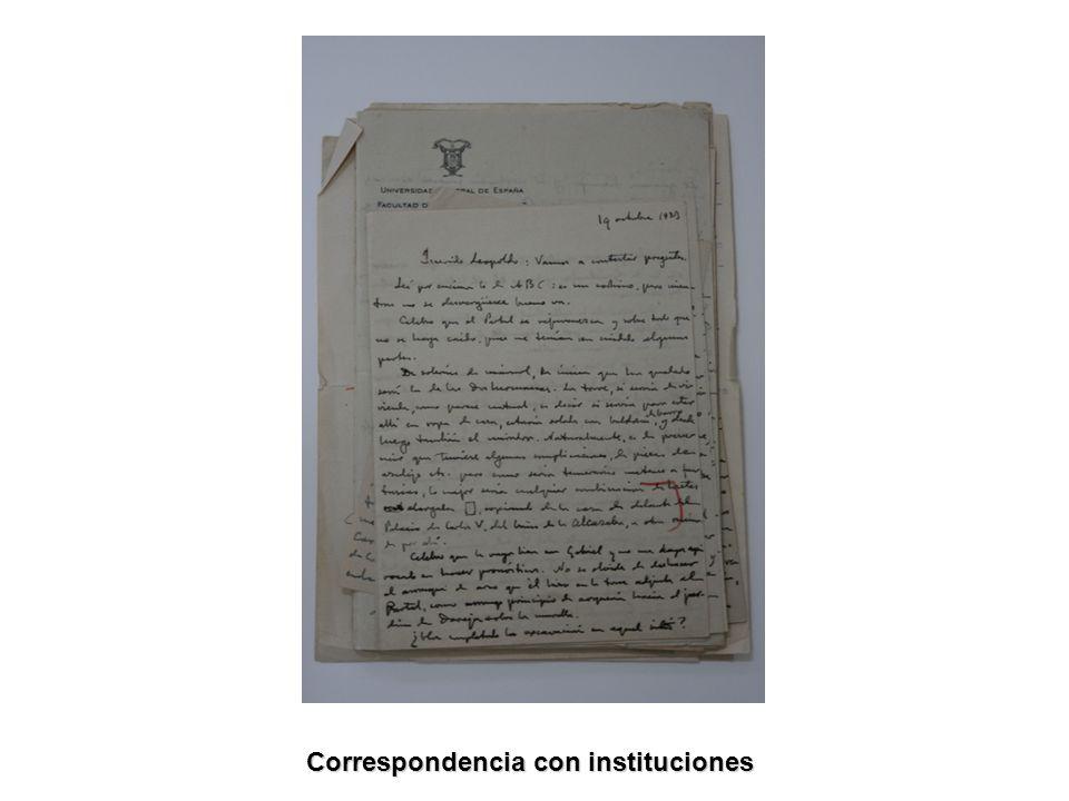 Correspondencia con instituciones