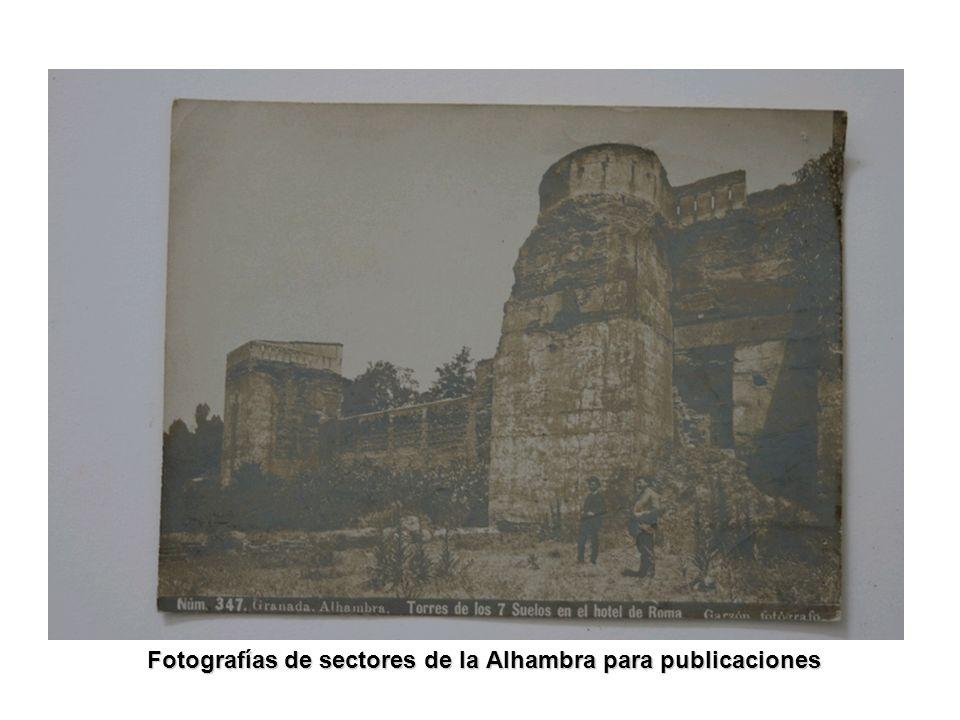 Fotografías de sectores de la Alhambra para publicaciones