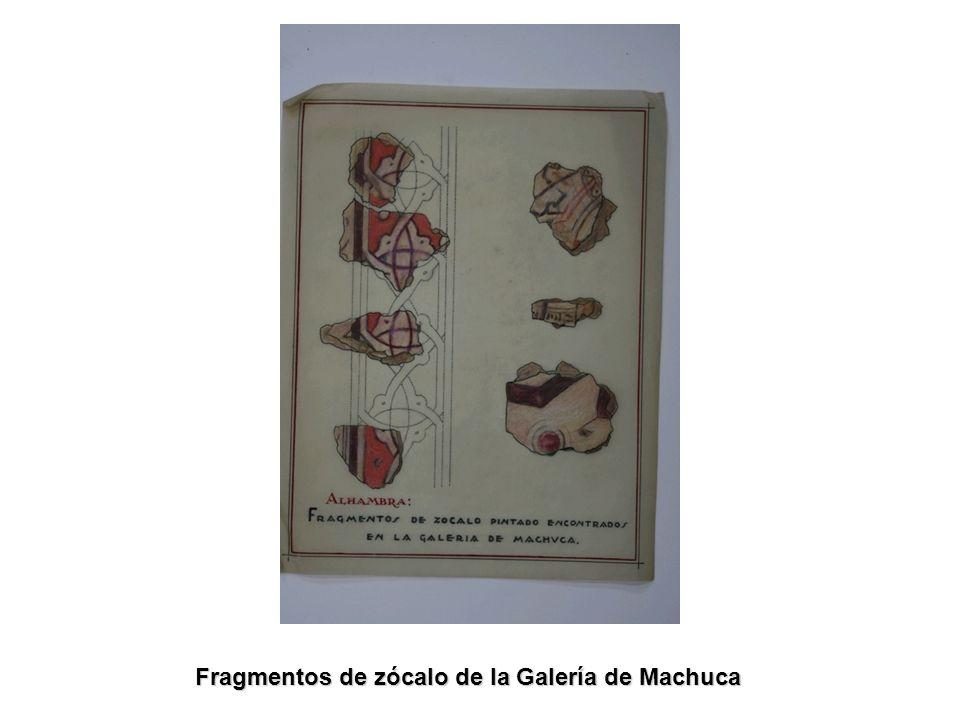 Fragmentos de zócalo de la Galería de Machuca