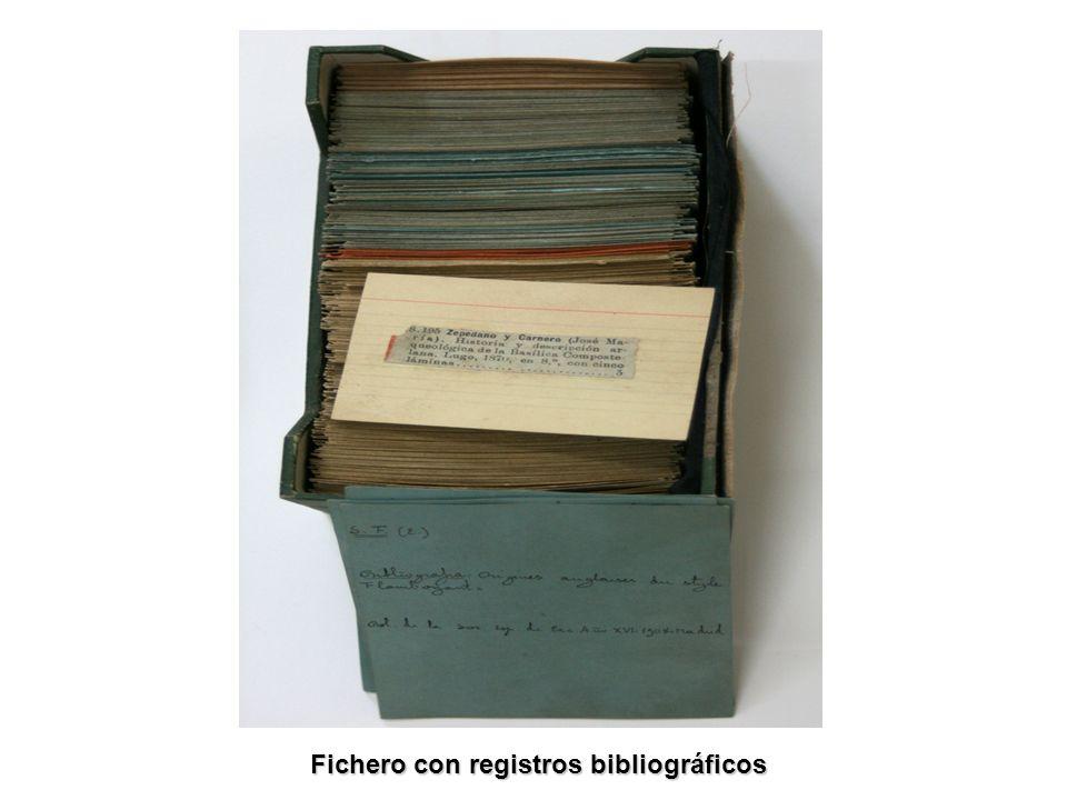 Fichero con registros bibliográficos