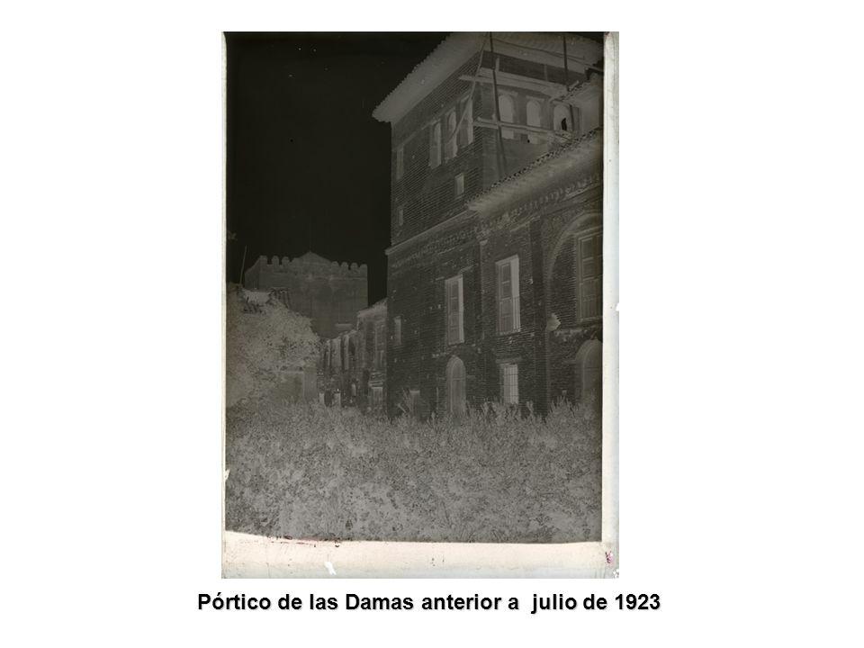 Pórtico de las Damas anterior a julio de 1923