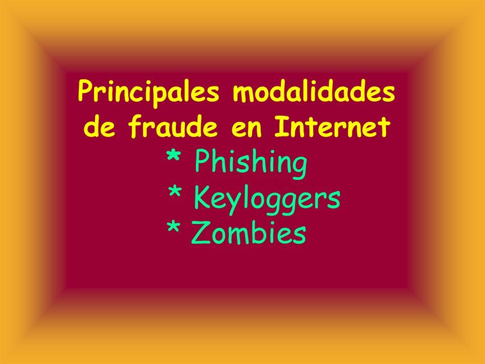 Principales modalidades de fraude en Internet. Phishing. Keyloggers