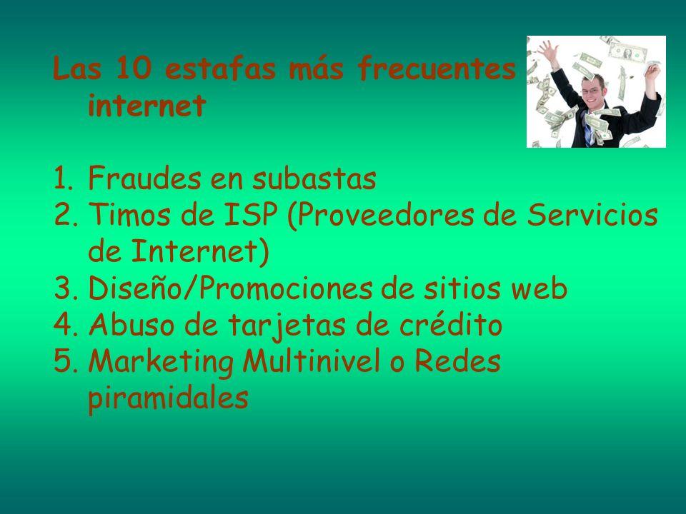 Las 10 estafas más frecuentes en internet