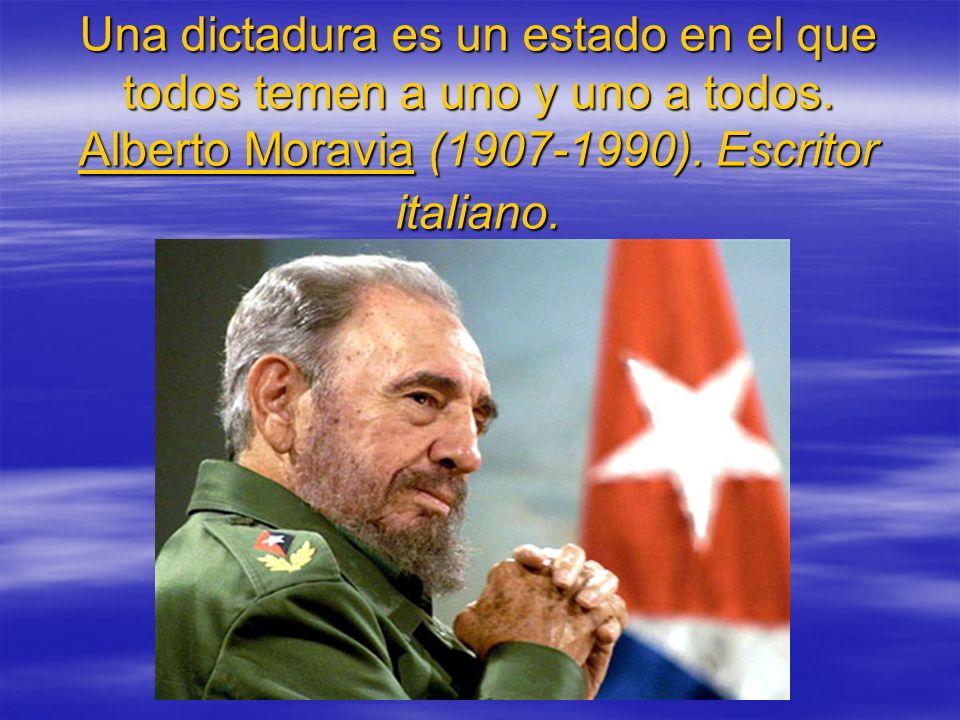 Una dictadura es un estado en el que todos temen a uno y uno a todos