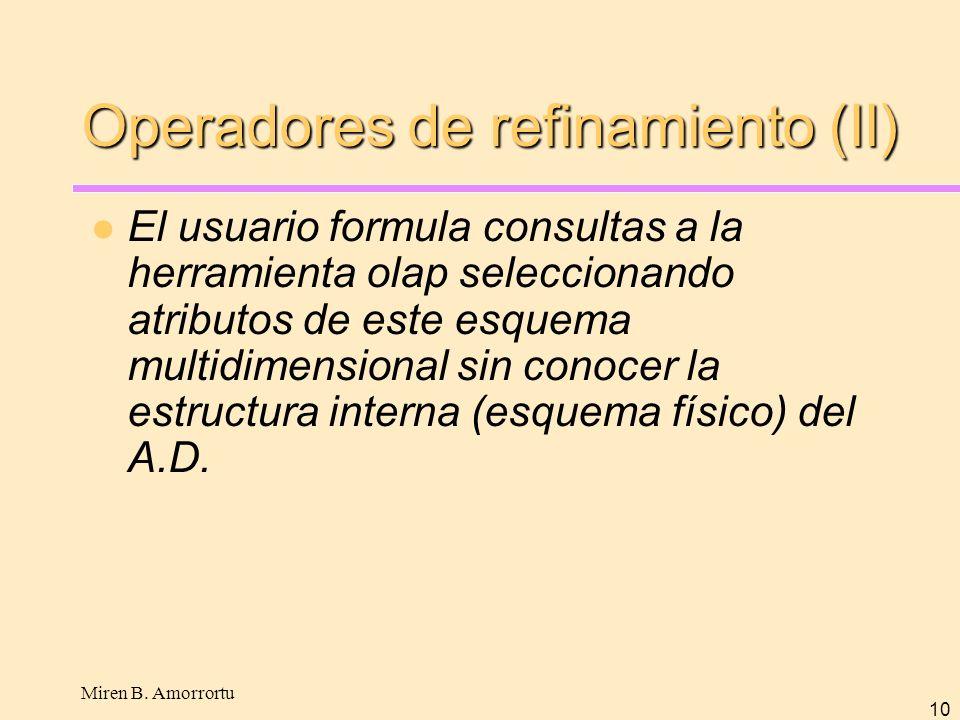 Operadores de refinamiento (II)