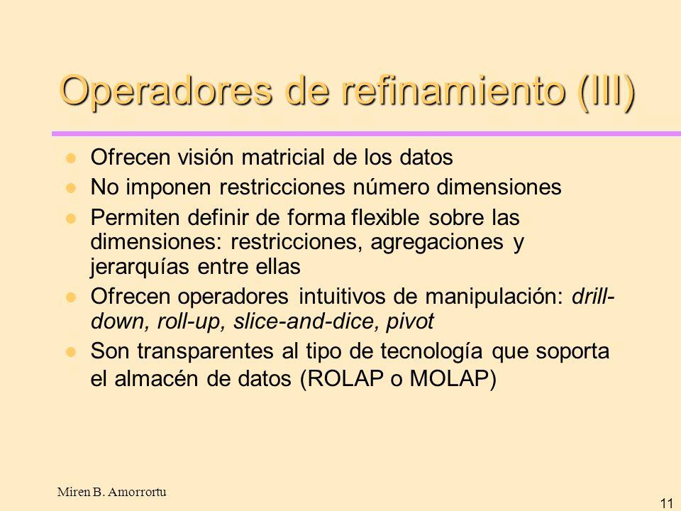 Operadores de refinamiento (III)