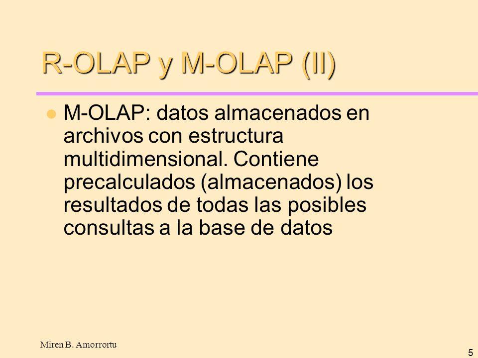 R-OLAP y M-OLAP (II)