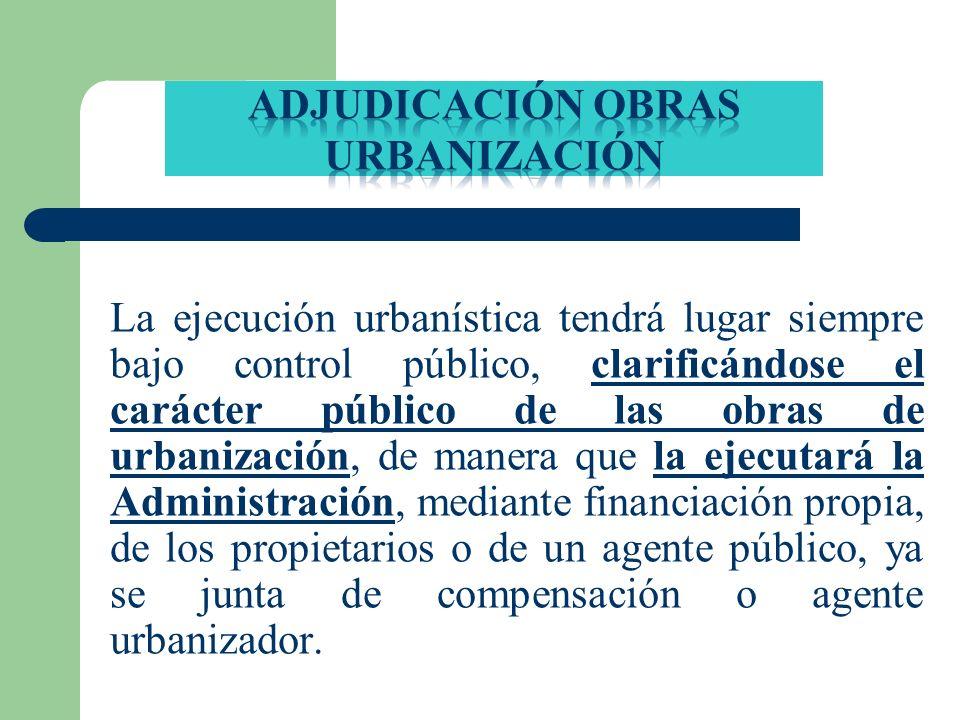 Adjudicación obras urbanización