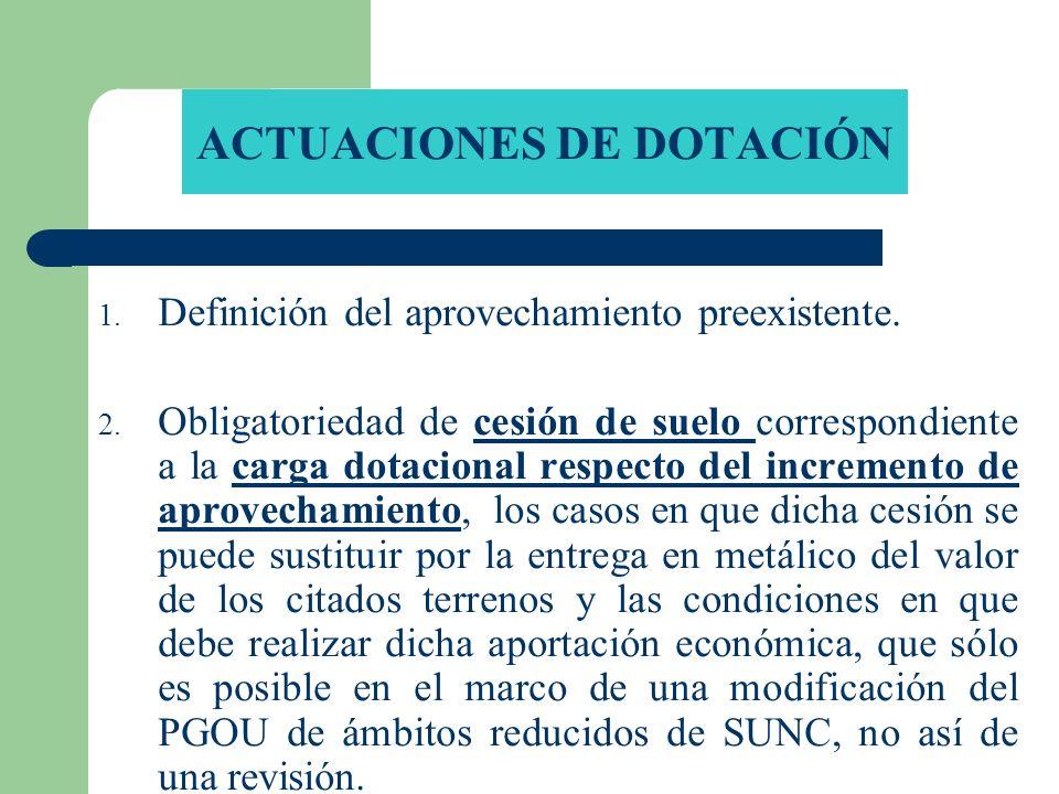 ACTUACIONES DE DOTACIÓN