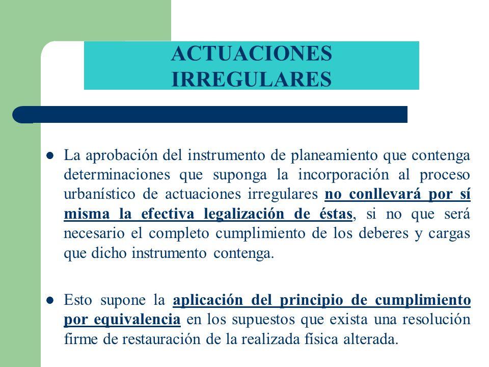 ACTUACIONES IRREGULARES