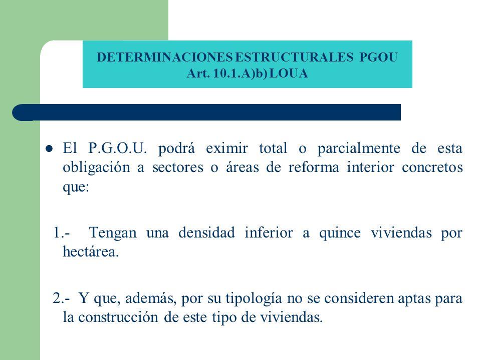 DETERMINACIONES ESTRUCTURALES PGOU Art. 10.1.A)b) LOUA