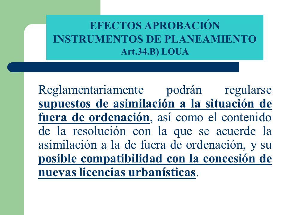 EFECTOS APROBACIÓN INSTRUMENTOS DE PLANEAMIENTO Art.34.B) LOUA