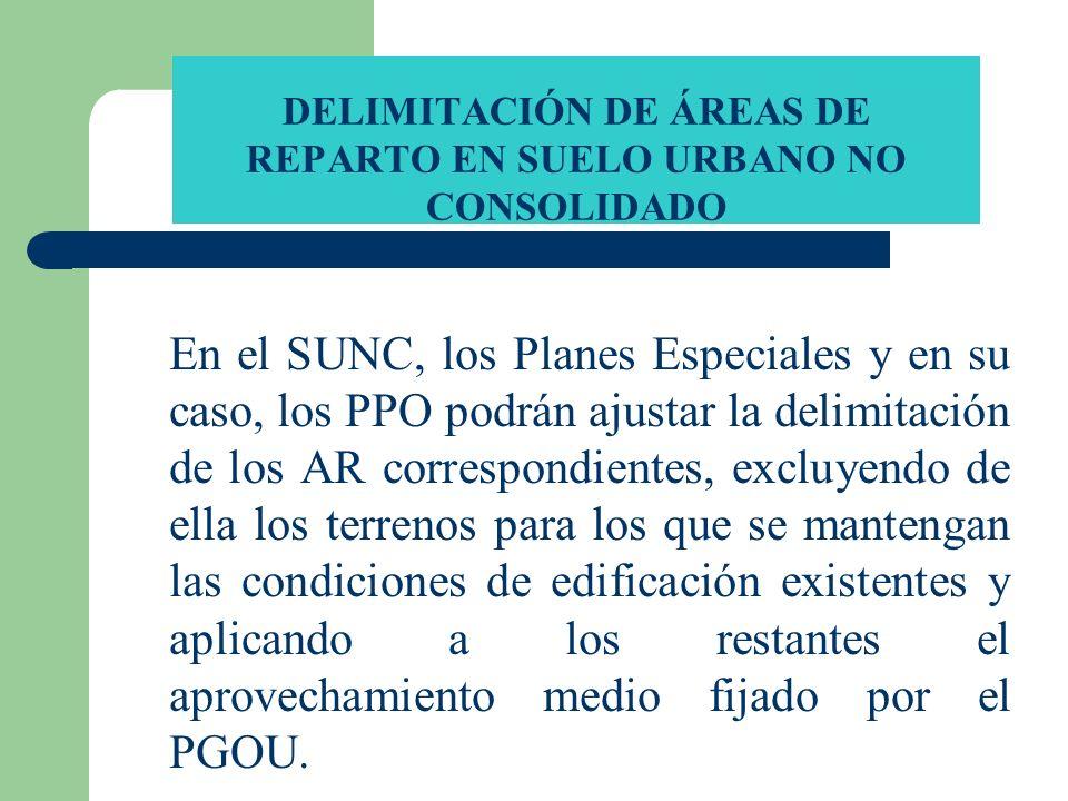 DELIMITACIÓN DE ÁREAS DE REPARTO EN SUELO URBANO NO CONSOLIDADO