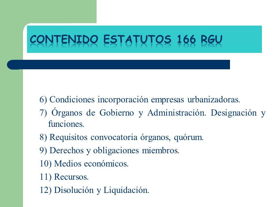 CONTENIDO ESTATUTOS 166 RGU